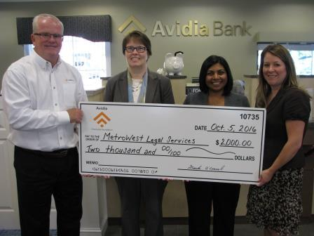 Avidia Charitable Foundation Presents Check